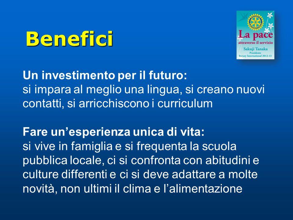Benefici Un investimento per il futuro: si impara al meglio una lingua, si creano nuovi contatti, si arricchiscono i curriculum Fare unesperienza unic