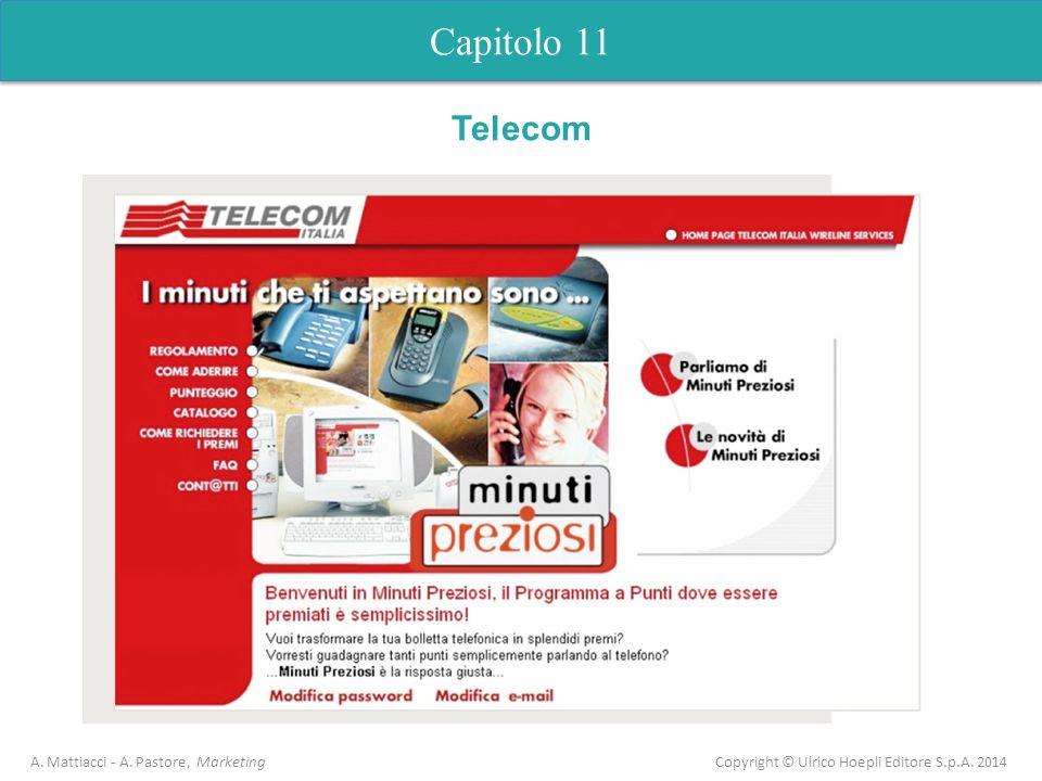 Capitolo 11 A. Mattiacci - A. Pastore, Marketing Copyright © Ulrico Hoepli Editore S.p.A. 2014 Telecom