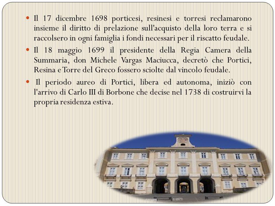 Attorno al Palazzo Reale l aristocrazia napoletana fece edificare le proprie residenze dando vita al fenomeno architettonico noto come Ville Vesuviane del Miglio d Oro .Ma Portici è anche storia delle ferrovie.