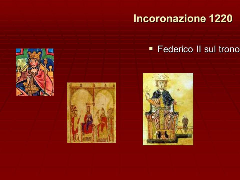 Incoronazione 1220 Incoronazione 1220 Federico II sul trono Federico II sul trono