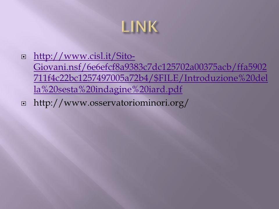 http://www.cisl.it/Sito- Giovani.nsf/6e6efcf8a9383c7dc125702a00375acb/ffa5902 711f4c22bc1257497005a72b4/$FILE/Introduzione%20del la%20sesta%20indagine
