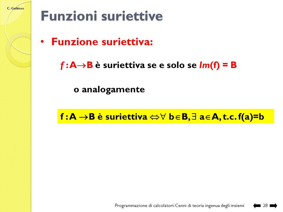 C.Gaibisso Funzioni iniettive.