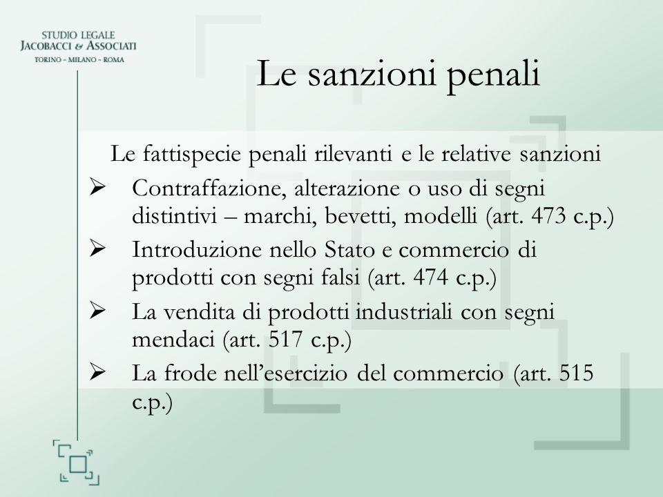 Altre sanzioni penali ed amministrative Norme sussidiarie - art.
