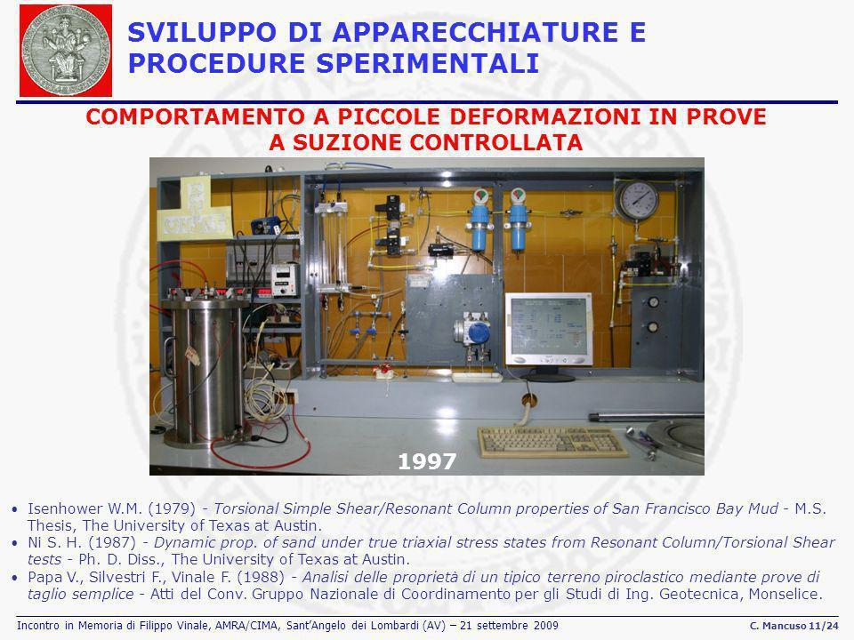 Incontro in Memoria di Filippo Vinale, AMRA/CIMA, SantAngelo dei Lombardi (AV) – 21 settembre 2009 C. Mancuso 11/24 1997 Isenhower W.M. (1979) Torsion