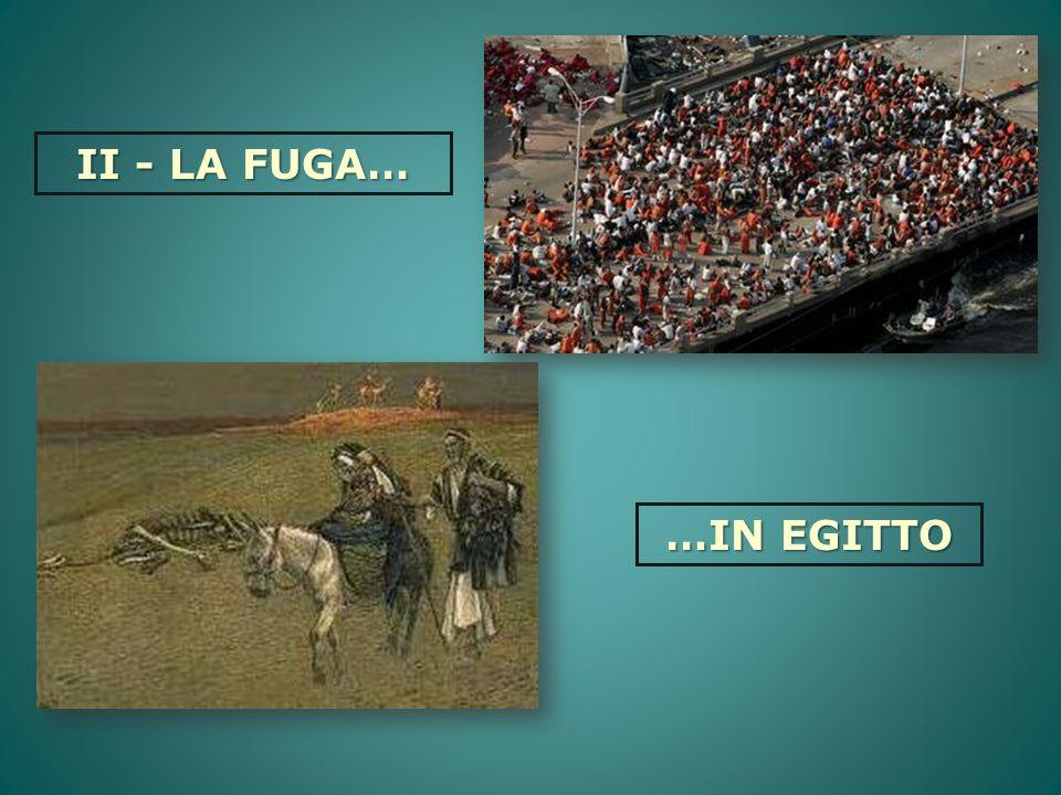 II - LA FUGA… …IN EGITTO