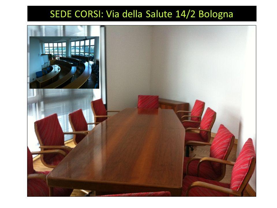 Attività: SEDE CORSI: Via della Salute 14/2 Bologna