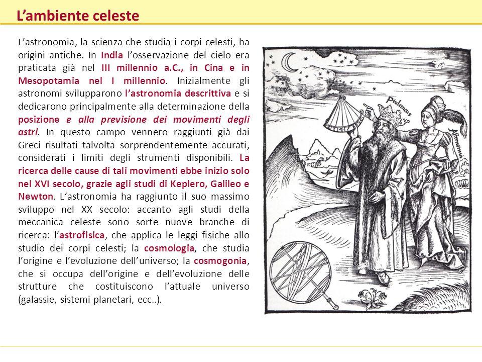 Lastronomia, la scienza che studia i corpi celesti, ha origini antiche. In India losservazione del cielo era praticata già nel III millennio a.C., in