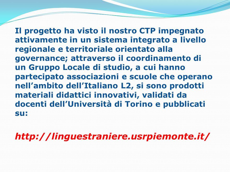 Il progetto ha visto il nostro CTP impegnato attivamente in un sistema integrato a livello regionale e territoriale orientato alla governance; attrave
