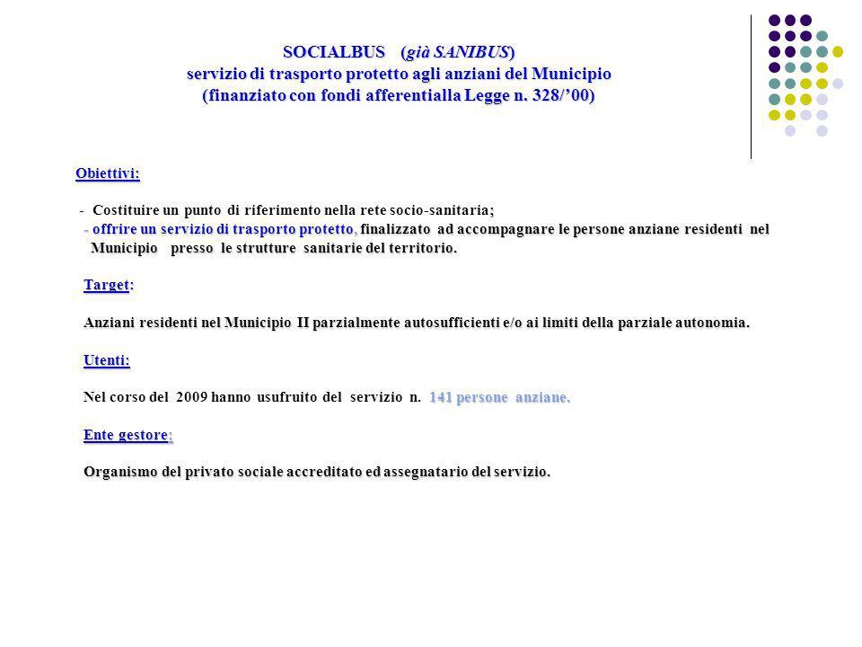 Dati utenza Social bus (Ottobre 2008 a Gennaio 2010) Suddivisione utenti per genere