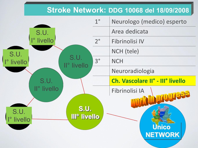 Stroke Network: DDG 10068 del 18/09/2008 S.U. I° liv. S.U. I° liv. S.U. II° liv. S.U. I° liv. S.U. II° liv. S.U. I° liv. S.U. I° liv. S.U. II° liv. S.