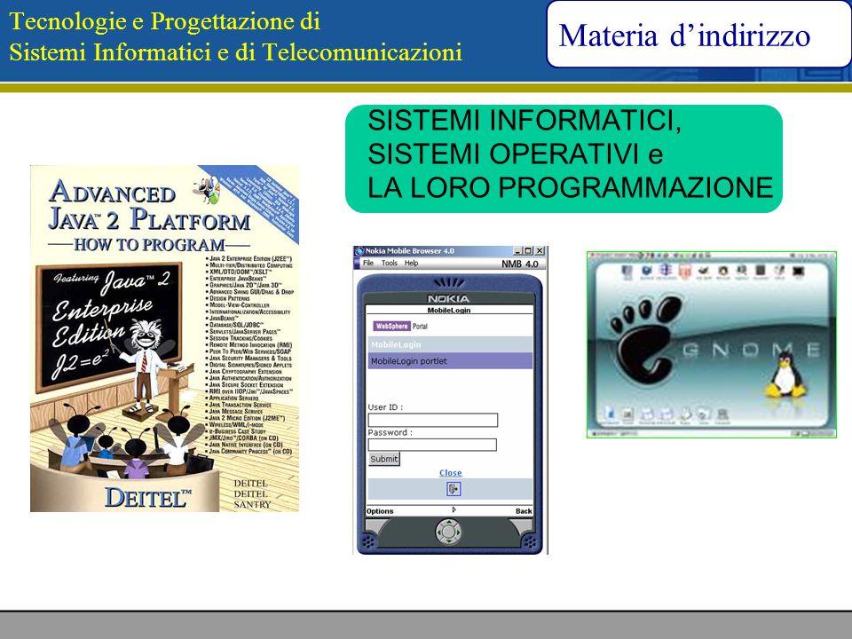 Tecnologie e Progettazione di Sistemi Informatici e di Telecomunicazioni SISTEMI INFORMATICI, SISTEMI OPERATIVI e LA LORO PROGRAMMAZIONE Materia dindi