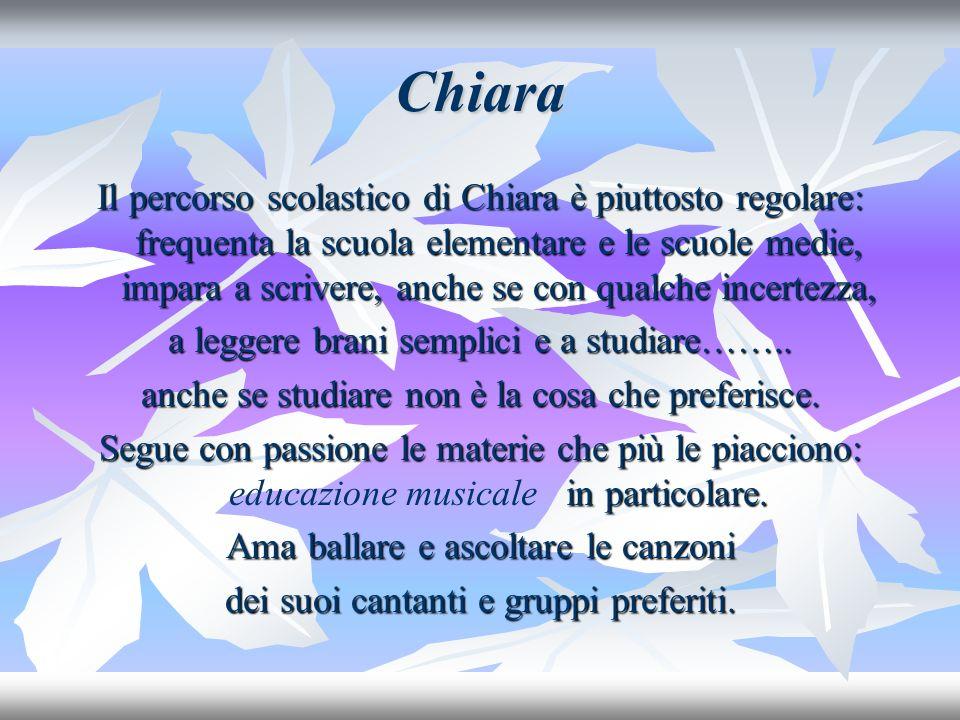 Chiara E dopo la scuola superiore.