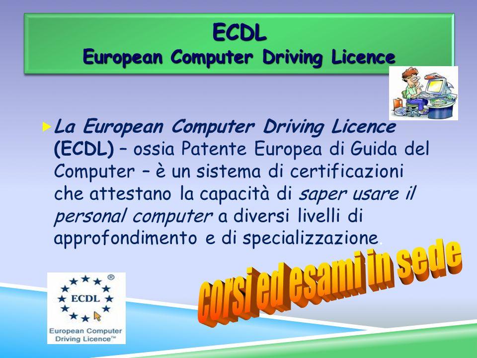 La European Computer Driving Licence (ECDL) – ossia Patente Europea di Guida del Computer – è un sistema di certificazioni che attestano la capacità d