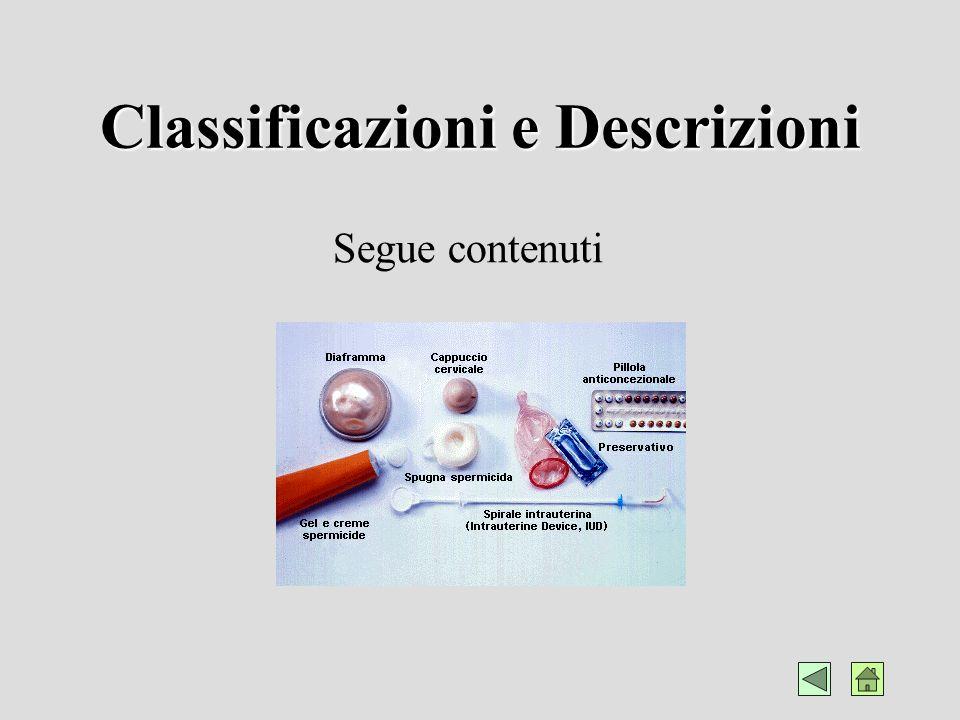 Classificazioni e Descrizioni Schematizzazione classificatoria e Link alle varie voci