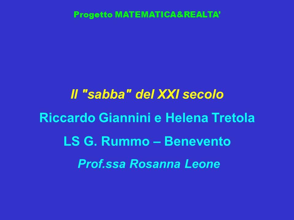 Progetto MATEMATICA&REALTA Il