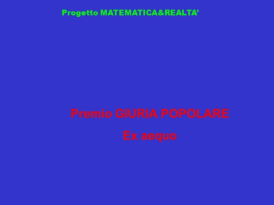 Progetto MATEMATICA&REALTA Premio GIURIA POPOLARE Ex aequo