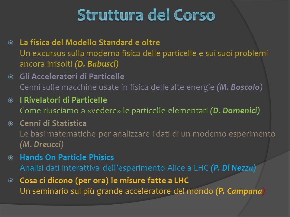 La fisica del Modello Standard e oltre Un excursus sulla moderna fisica delle particelle e sui suoi problemi ancora irrisolti (D. Babusci) Gli Acceler