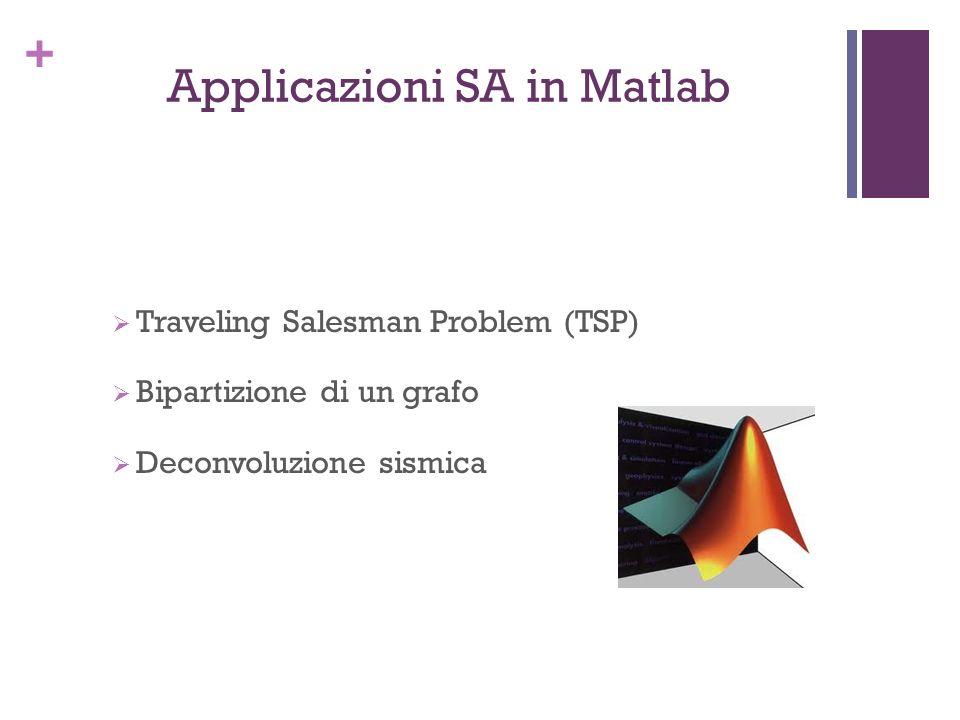 + Applicazioni SA in Matlab Traveling Salesman Problem (TSP) Bipartizione di un grafo Deconvoluzione sismica