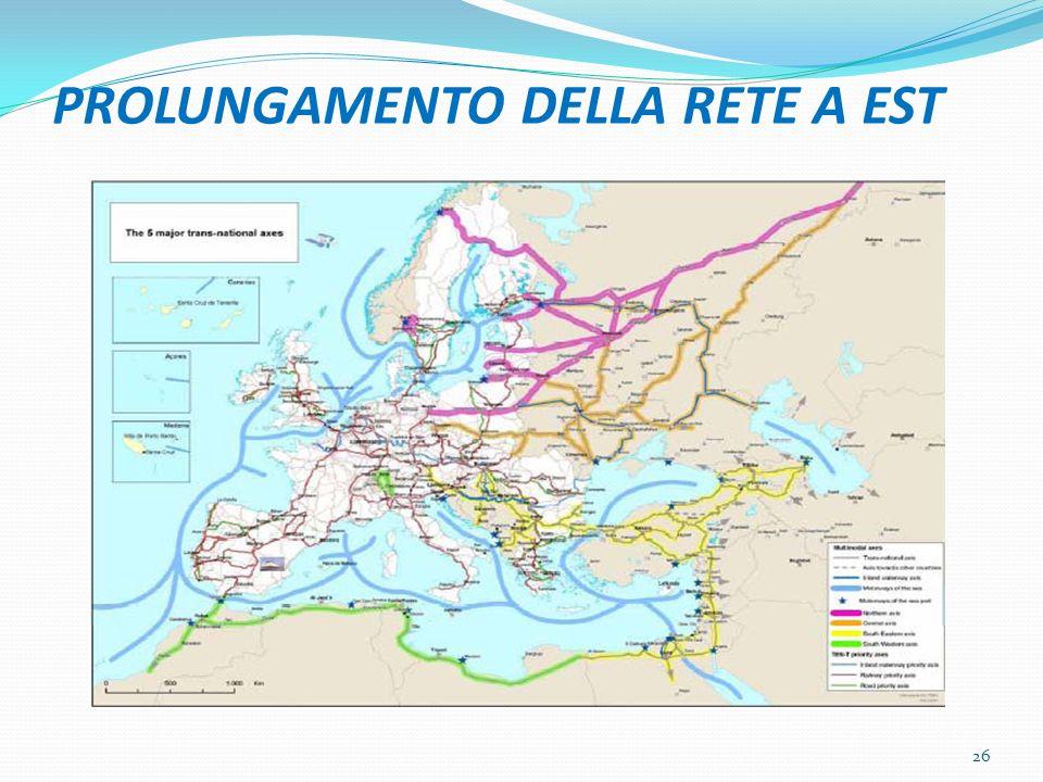 PROLUNGAMENTO DELLA RETE A EST 26