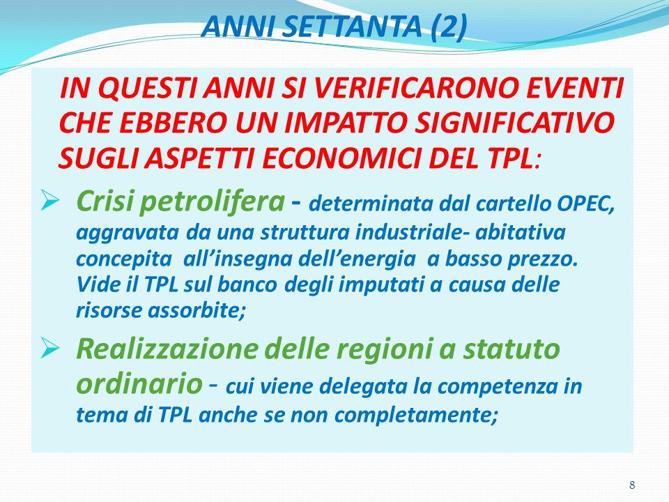 LIBRO BIANCO SUI TRASPORTI (2) LEGARE IL DESTINO DEI TIPI DI TRASPORTO A.