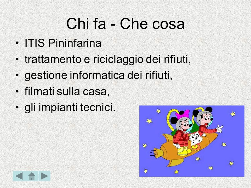 Chi fa - Che cosa IIS Olivetti: - impianti termici, - impianti elettrici.