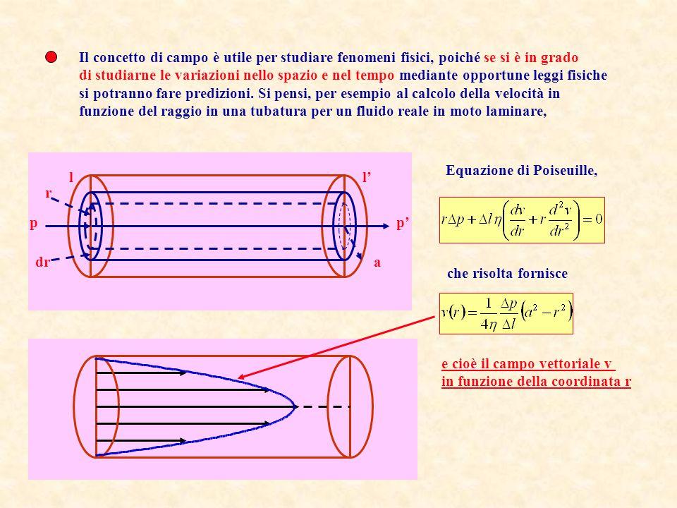 Il concetto di Campo Le grandezze fisiche possono essere scalari, vettoriali e tensoriali Una grandezza fisica può assumere valori diversi in differenti punti dello spazio in differenti istanti di tempo.