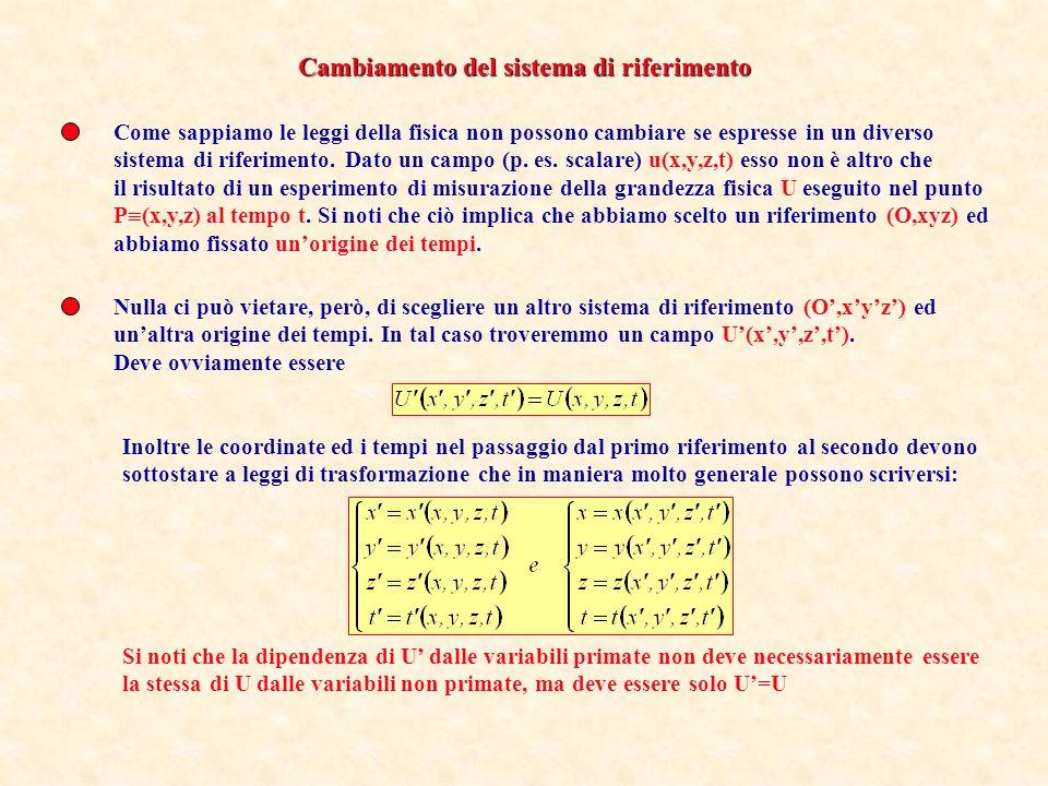 Supponiamo che per un campo vettoriale vengano assegnati in tutto lo spazio la divergenza ed il rotore: Un teorema di calcolo vettoriale che non dimostreremo garantisce che Se la densità di sorgenti s(x,y,z) e la densità di circuitazione c(x,y,z) si annullano sulla superficie allinfinito (un modo per dire che le sorgenti devono essere limitate nello spazio) ed il campo si annulla allinfinito almeno come 1/r 2, allora il sistema di equazioni differenziali di cui sopra ammette una ed una sola soluzione.