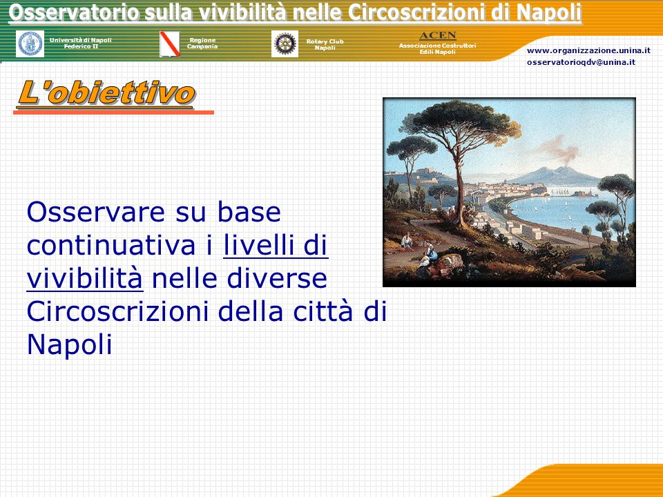 Università di Napoli Federico II Regione Campania Rotary Club Napoli Associazione Costruttori Edili Napoli www.organizzazione.unina.it osservatorioqdv@unina.it