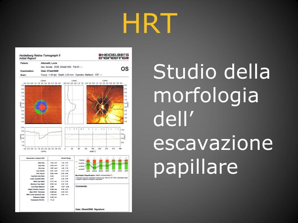 HRT Studio della morfologia dell escavazione papillare