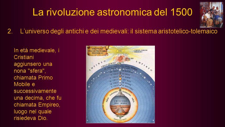 5.Keplero: eliocentrismo e orbite ellittiche (Johannes Kepler, Weil der Stadt, 27 dicembre 1571 – Ratisbona, 15 novembre 1630) La rivoluzione astronomica del 1500