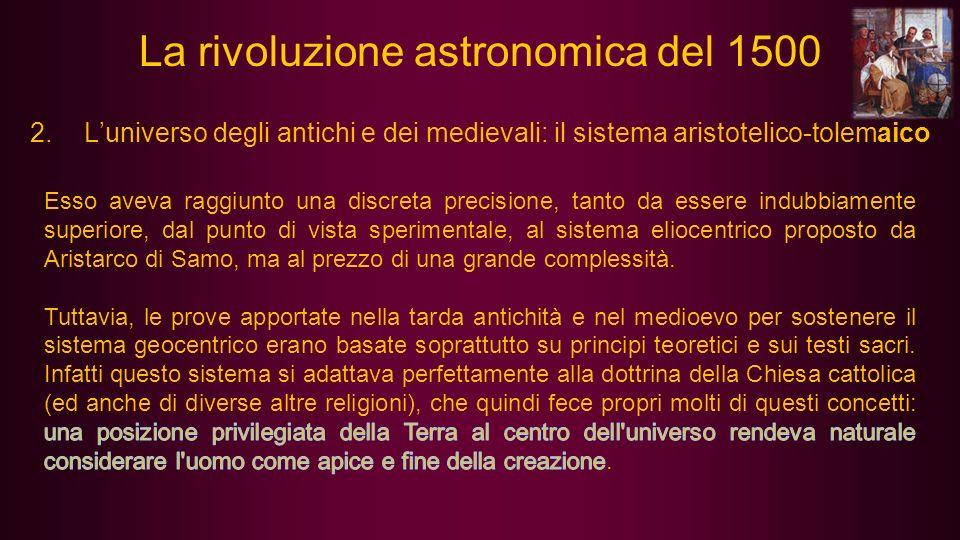 3.Dal geocentrismo alleliocentrismo: Copernico (in polacco Mikołaj Kopernik; Toruń, 19 febbraio 1473 – Frombork, 24 maggio 1543) La teoria di Niccolò Copernico, che propone il Sole al centro del sistema di orbite dei pianeti componenti il cosmo, riprende quella greca di Aristarco di Samo dell eliocentrismo.