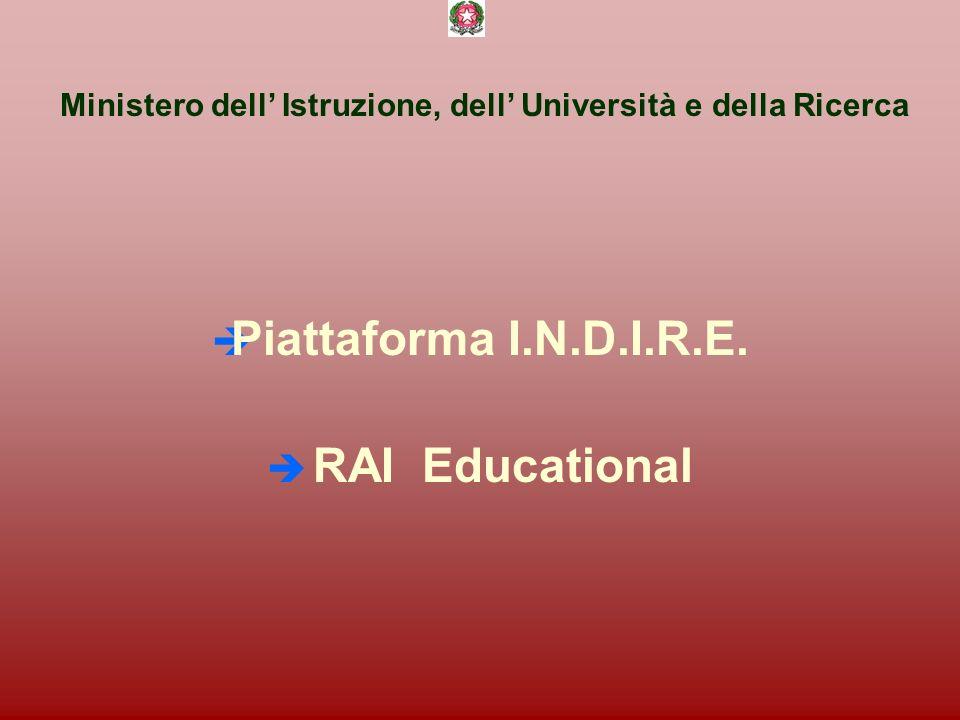 Ministero dell Istruzione, dell Università e della Ricerca è Piattaforma I.N.D.I.R.E.