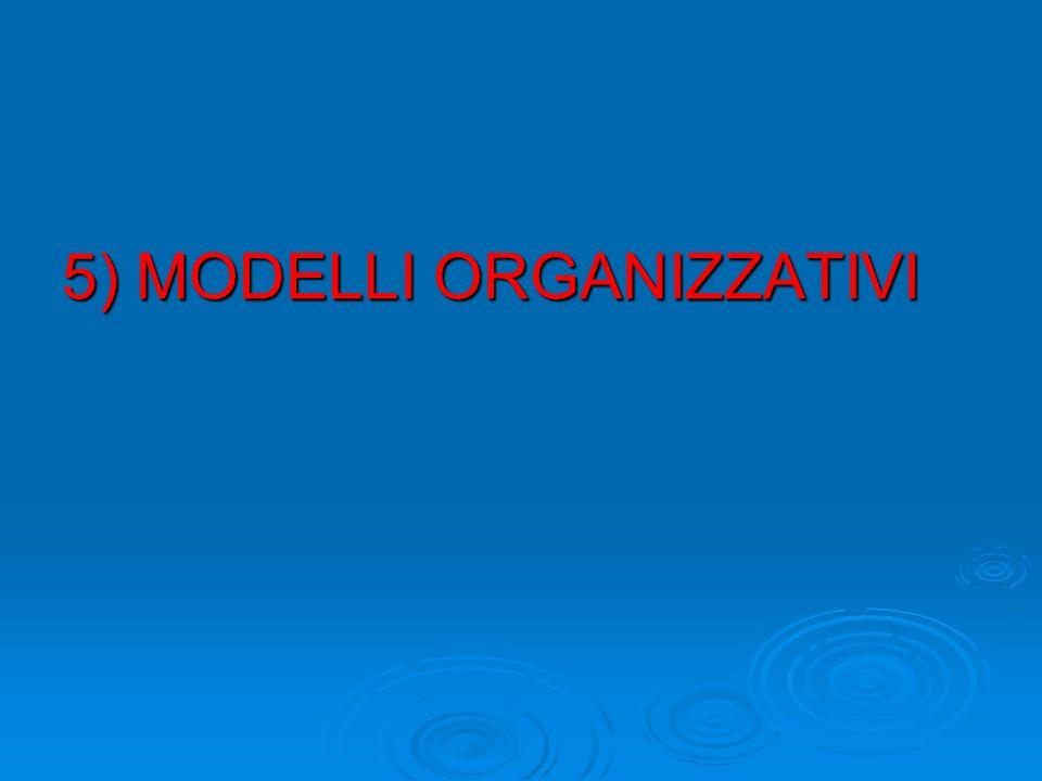5) MODELLI ORGANIZZATIVI