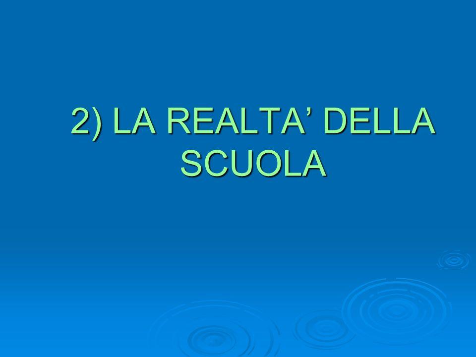 2) LA REALTA DELLA SCUOLA