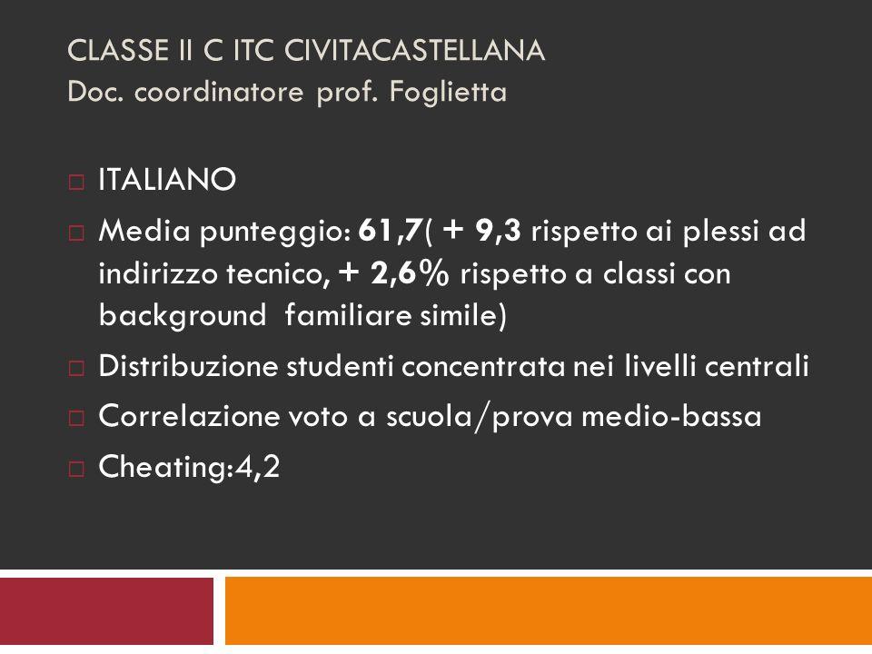 CLASSE II C ITC CIVITACASTELLANA Doc. coordinatore prof.