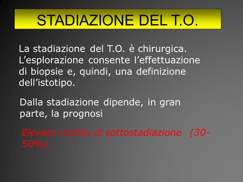 STADIAZIONE DEL T.O.La stadiazione del T.O. è chirurgica.