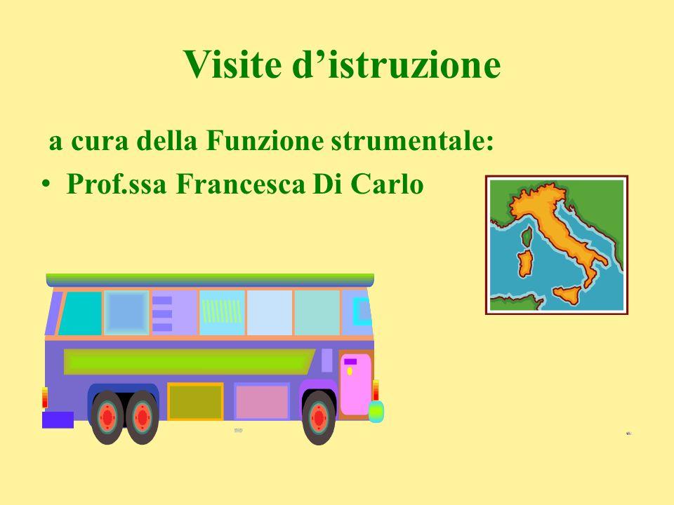 Visite distruzione a cura della Funzione strumentale: Prof.ssa Francesca Di Carlo