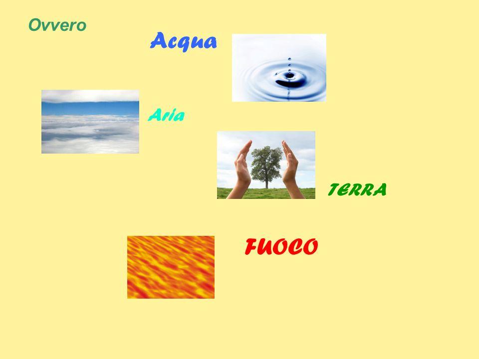 Ovvero Acqua FUOCO Aria TERRA