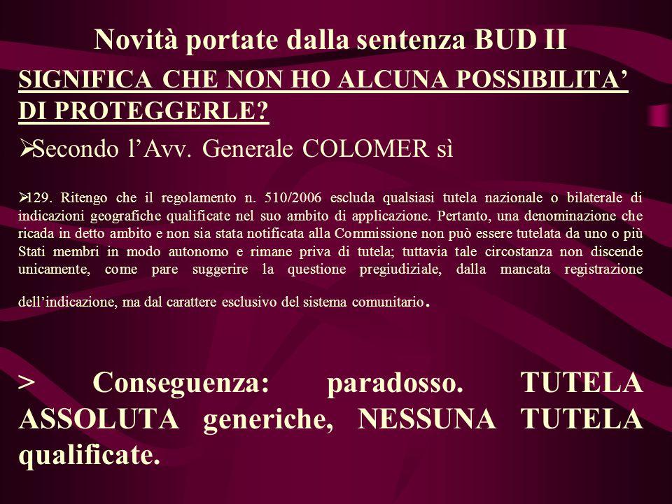 Novità portate dalla sentenza BUD II SIGNIFICA CHE NON HO ALCUNA POSSIBILITA DI PROTEGGERLE.