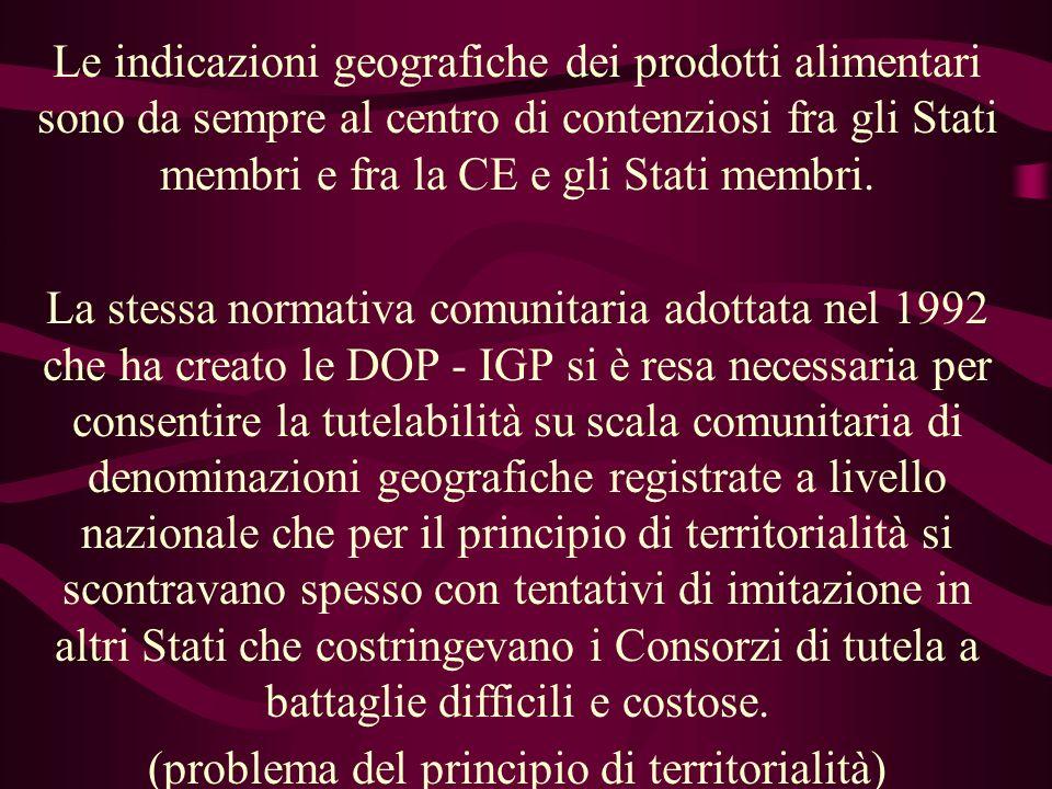 Novità portate dalla sentenza BUD II Questa valutazione della CGE discende da: 1) esclusività della disciplina comune in materia di DOP - IGP; 2) individuazione delle I.G.