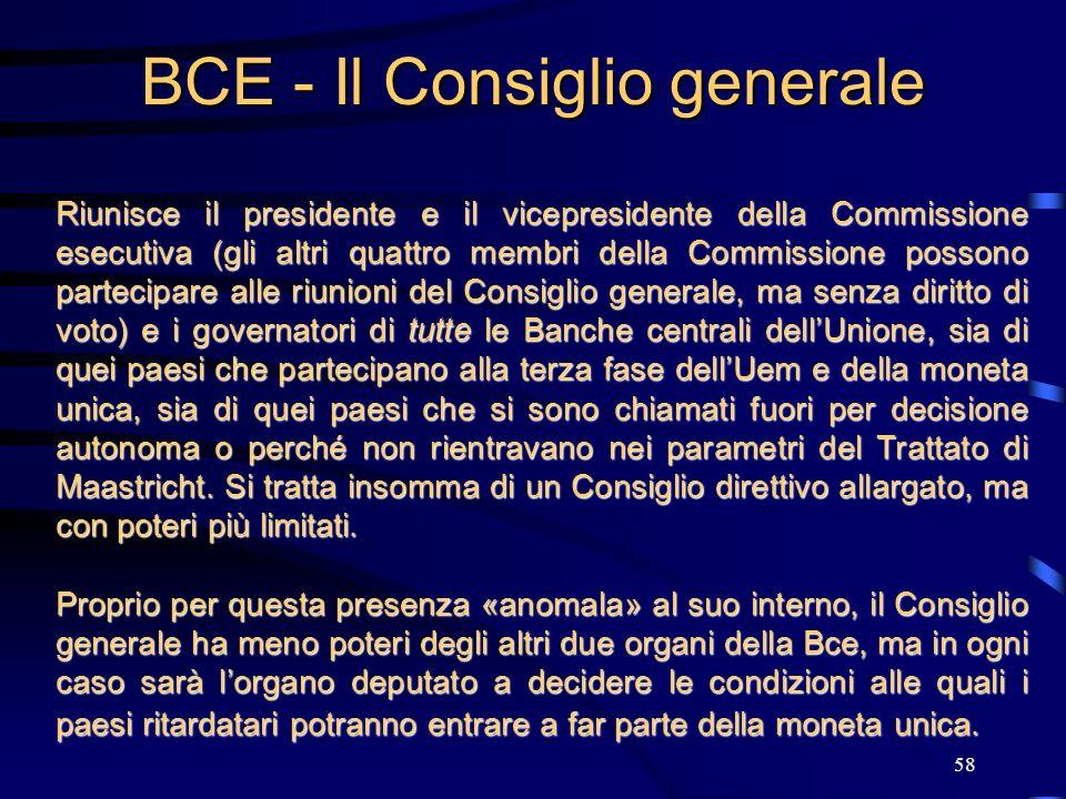58 BCE - Il Consiglio generale Riunisce il presidente e il vicepresidente della Commissione esecutiva (gli altri quattro membri della Commissione poss
