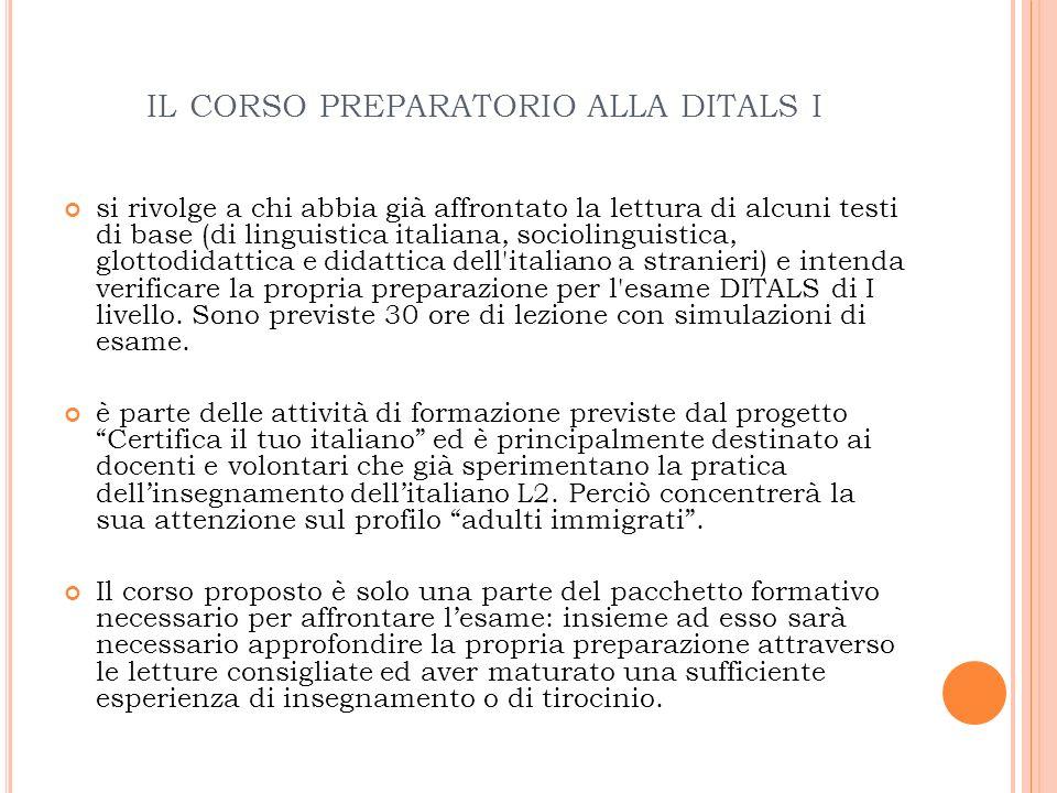 PREREQUISTI 1.Buona conoscenza dellitaliano (livello C1) 2.
