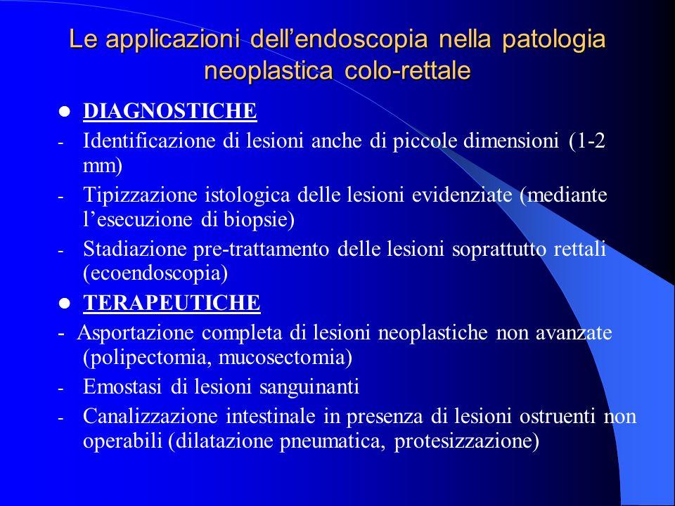 Polipi del colon. Clinica Nella maggior parte dei casi asintomatici (scoperti casualmente in corso di coloscopia o rx clisma opaco) Quando sintomatici