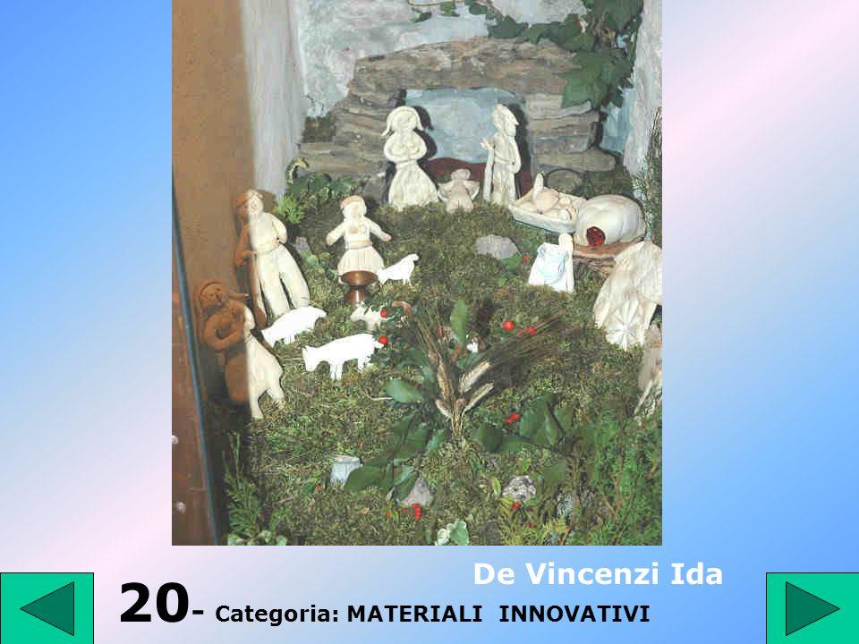 19 - Categoria: PRESEPE TRADIZIONALE Perpetua Rosangela 1° Premio