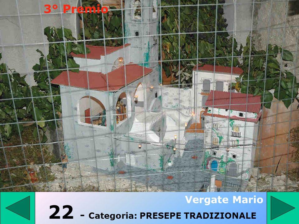 21 - Categoria: PRESEPE TRADIZIONALE Antenucci Diego