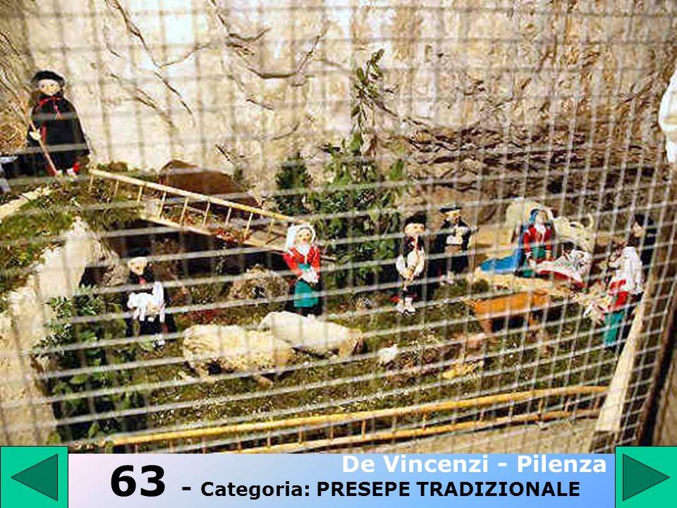 62 - Categoria: PRESEPE TRADIZIONALE Maddonni Giuseppe 2° Premio