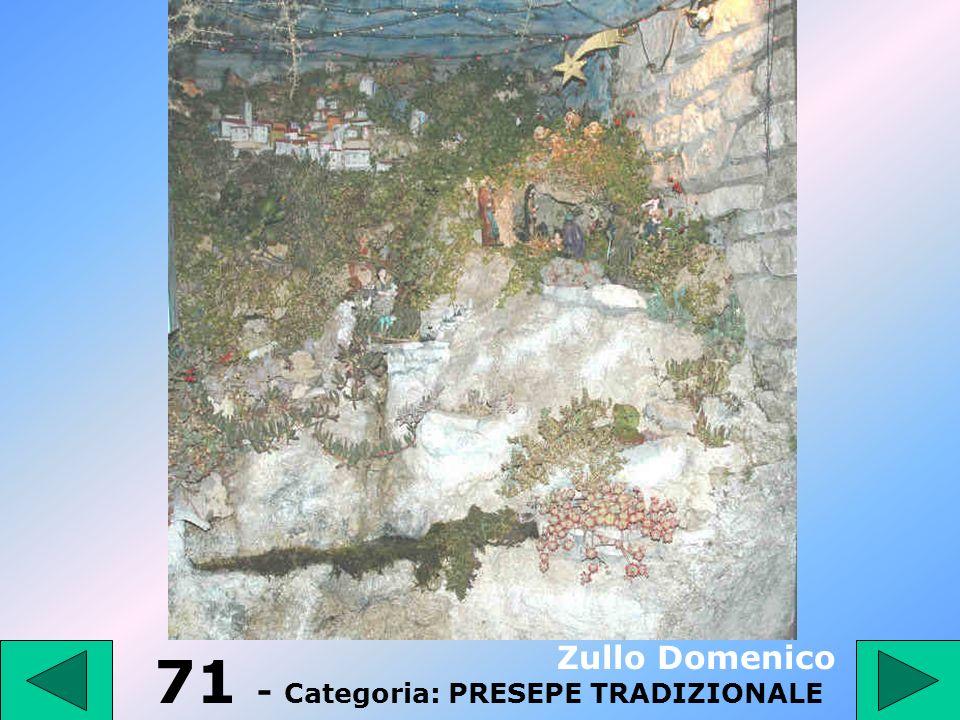 70 - Categoria: PRESEPE TRADIZIONALE Sacco Franco