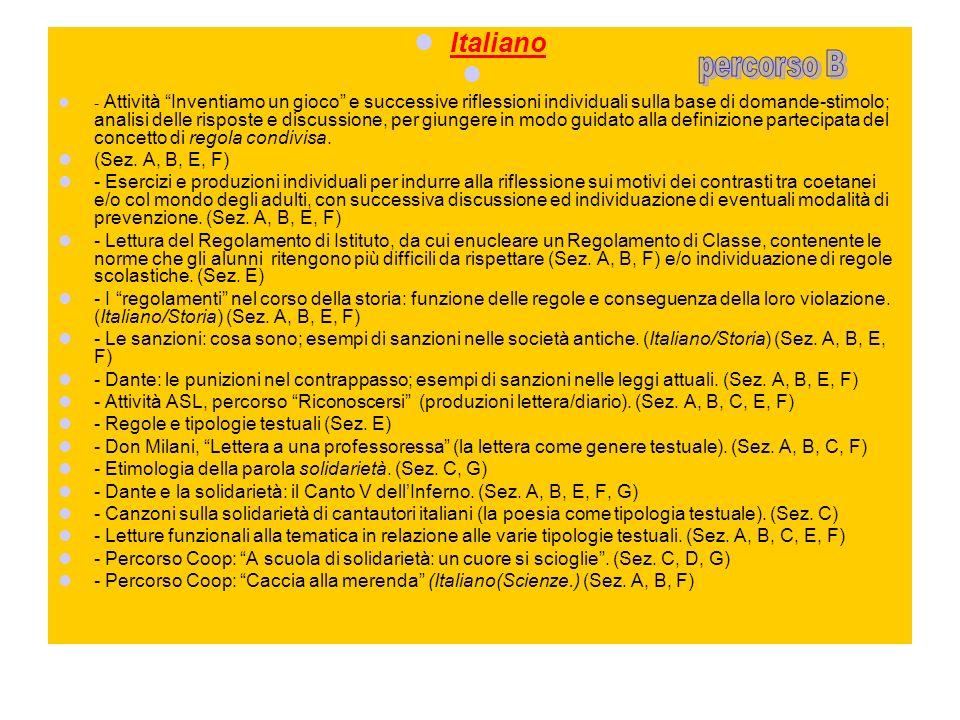 Italiano - Attività Inventiamo un gioco e successive riflessioni individuali sulla base di domande-stimolo; analisi delle risposte e discussione, per