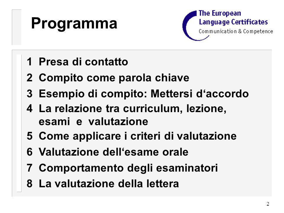 33 Mettersi daccordo Foglio didattico per gli ascoltatori 2 I due interlocutori del suo gruppo hanno una lista con ragioni possibili per sottoporsi a un esame linguistico (vedi sotto).