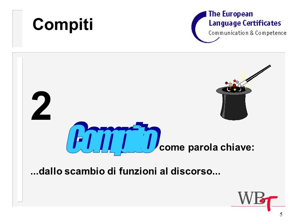 5 Compiti 2 come parola chiave:...dallo scambio di funzioni al discorso...
